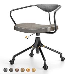 akron desk chair 3D model