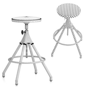 stools akron leather seats 3D