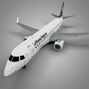 3D model lufthansa embraer190 l632