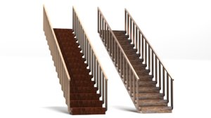 stairs polygons materials model