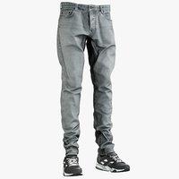 Grey Jeans Sneakers 1