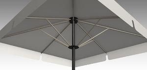 3D umbrella parasol deck