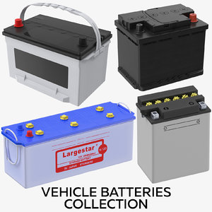 vehicle batteries 3D model