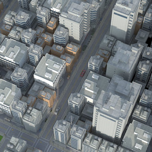 3D city building downtown