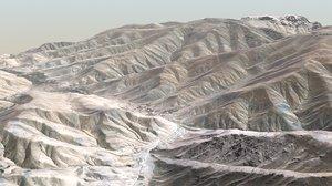 3D model desert terrain landscape 2