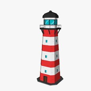 lighthouse games 3D model