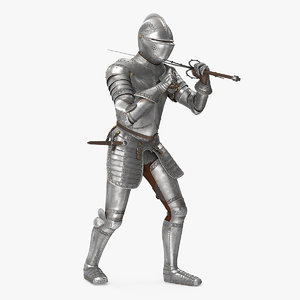 3D medieval knight plate armor model