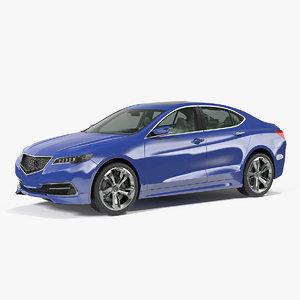 luxury sedan generic 3D model