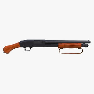 shotgun mossberg 590 shockwave- 3D model