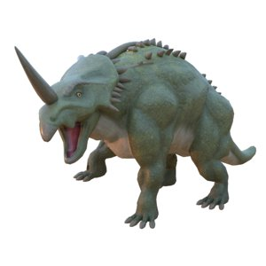 styracosaurus rigged 3D model