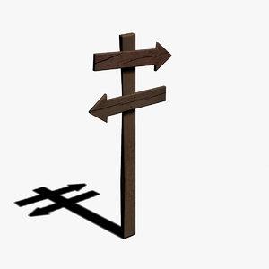 sign medieval 3D model
