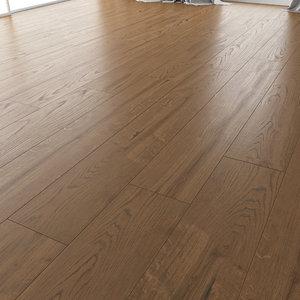 3D wood floor oak black model