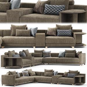 3D model sofas seat furniture