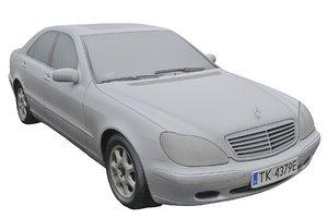 3D real car mercedes s320
