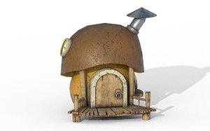 mushroom house 3D