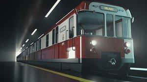 milan metro train 3D model