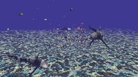 Animated Fishes and Underwater Coral Reef Habitat Ocean