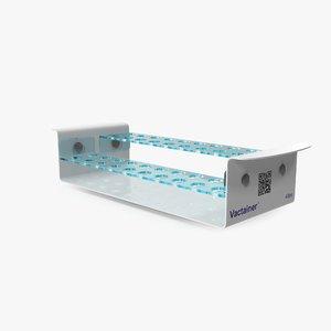 3D test tube rack model