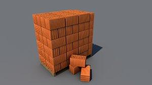 3D model brick l