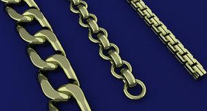 chain jewellery fashion 3D model