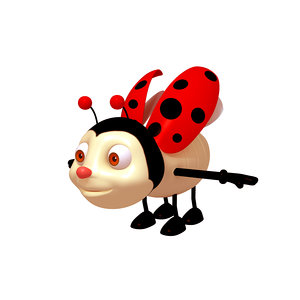 3D ladybug cartoon