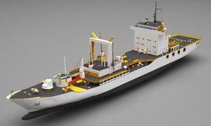 navy ship 3D model