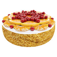 Cake with tangerines and cranberries