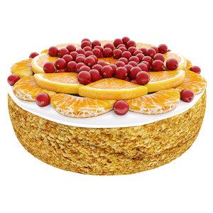 3D cake tangerine model