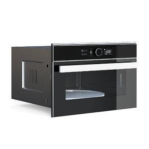3D model black microwave
