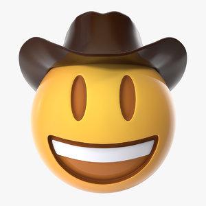 cowboy emoji 3D model