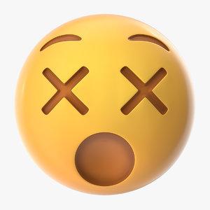3D dizzy emoji