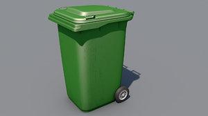 plastic trash bin 3D