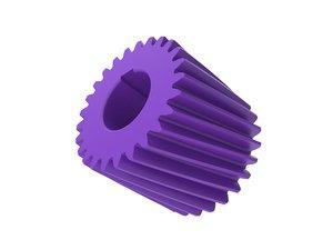 3D model helical gear