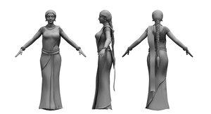 3D saree india girl woman