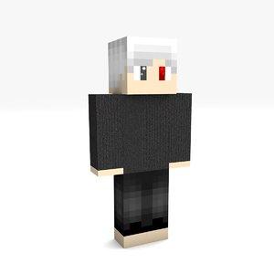 minecraft boy 2 rigged 3D model