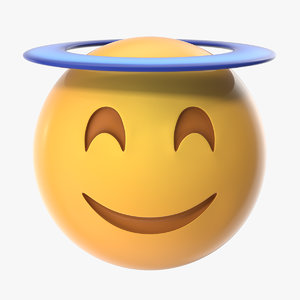 3D model angel halo emoji