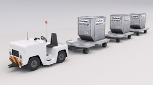 baggage tractor 3D model