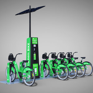 3D careem bike sharing dubai