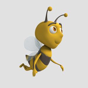 bee character cartoon 3D model