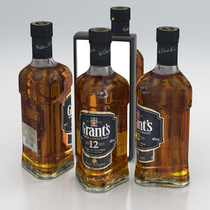 scotch whisky bottle 3D