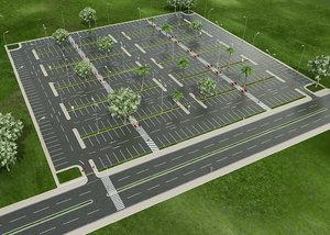 3D realistic car park 2