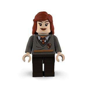 hermione granger gryffindor 3D model