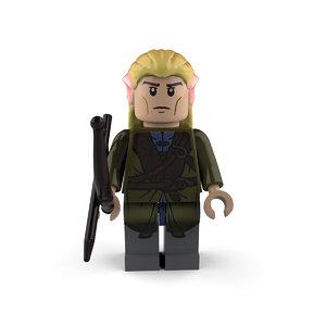 legolas character lord 3D model