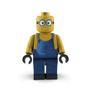 3D minion follower character