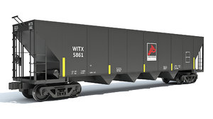 3D model railroad hopper car