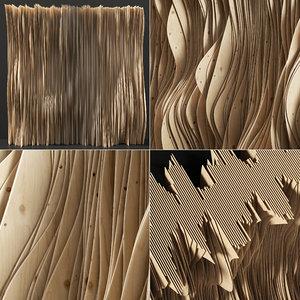 parametric wood plywood 3D model