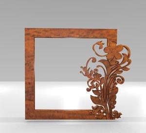 ethnic ornamental frame decoration 3D model