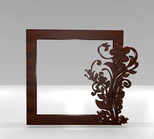 ethnic ornamental frame 3D model