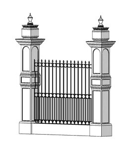 3D classic fence iron