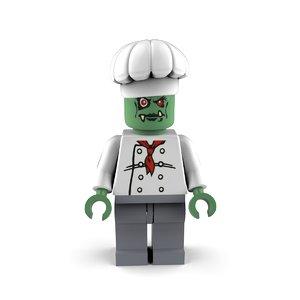 zombie chef 3D model